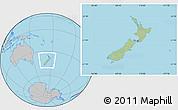 Savanna Style Location Map of New Zealand, gray outside