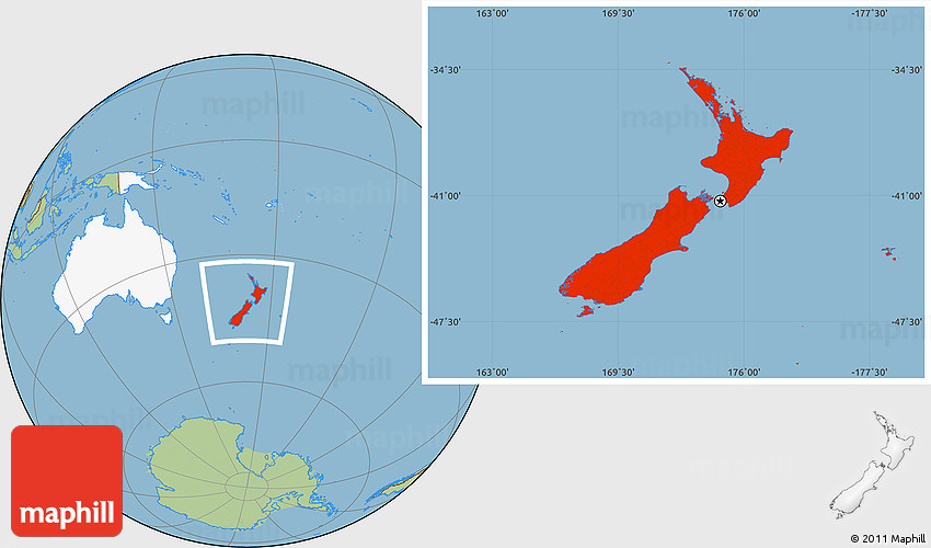 New Zealand On The Map.Savanna Style Location Map Of New Zealand Highlighted Continent