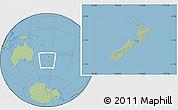 Savanna Style Location Map of New Zealand, hill shading inside