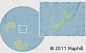Savanna Style Location Map of New Zealand, hill shading outside