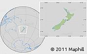 Savanna Style Location Map of New Zealand, lighten, desaturated