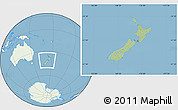 Savanna Style Location Map of New Zealand, lighten, land only