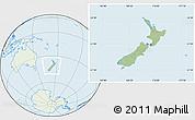 Savanna Style Location Map of New Zealand, lighten