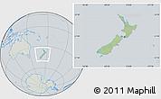 Savanna Style Location Map of New Zealand, lighten, semi-desaturated