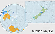 Savanna Style Location Map of New Zealand, political outside