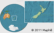 Savanna Style Location Map of New Zealand, satellite outside