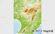 Physical 3D Map of Manawatu-Wanganui