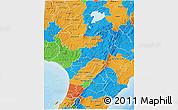 Political 3D Map of Manawatu-Wanganui