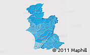Political Shades 3D Map of Manawatu-Wanganui, cropped outside