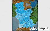 Political Shades 3D Map of Manawatu-Wanganui, darken
