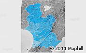 Political Shades 3D Map of Manawatu-Wanganui, desaturated