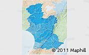 Political Shades 3D Map of Manawatu-Wanganui, lighten