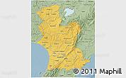 Savanna Style 3D Map of Manawatu-Wanganui