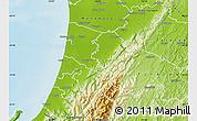 Physical Map of Horowhenua