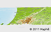 Physical Panoramic Map of Horowhenua