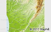 Physical Map of Manawatu