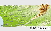 Physical Panoramic Map of Manawatu
