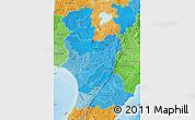 Political Shades Map of Manawatu-Wanganui