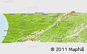 Physical Panoramic Map of Palmerston North