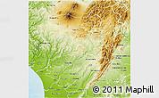 Physical 3D Map of Rangitikei