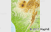 Physical Map of Rangitikei