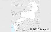Silver Style Simple Map of Rangitikei