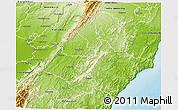 Physical 3D Map of Tararua