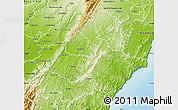 Physical Map of Tararua