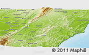 Physical Panoramic Map of Tararua