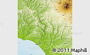 Physical Map of Wanganui