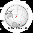 Outline Map of Wanganui