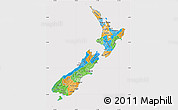 Political Map of New Zealand, cropped outside