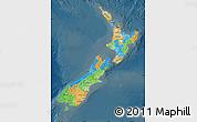 Political Map of New Zealand, darken