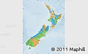 Political Map of New Zealand, lighten