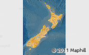 Political Shades Map of New Zealand, darken