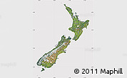 Satellite Map of New Zealand, cropped outside