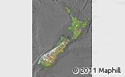 Satellite Map of New Zealand, desaturated
