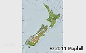 Satellite Map of New Zealand, lighten