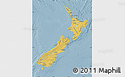Savanna Style Map of New Zealand, single color outside