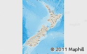 Shaded Relief Map of New Zealand