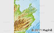 Physical Map of Marlborough