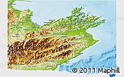 Physical Panoramic Map of Marlborough