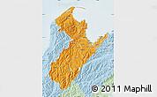 Political Shades Map of Nelson, lighten