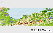 Physical Panoramic Map of Nelson