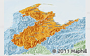 Political Shades Panoramic Map of Nelson, lighten