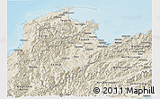 Shaded Relief Panoramic Map of Nelson