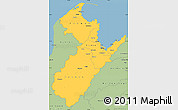 Savanna Style Simple Map of Nelson