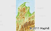 Physical Map of Tasman