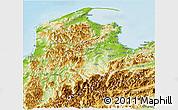 Physical Panoramic Map of Tasman