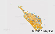 Political Shades 3D Map of Northland, cropped outside